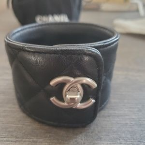 Chanel Leather Cuff Bracelet